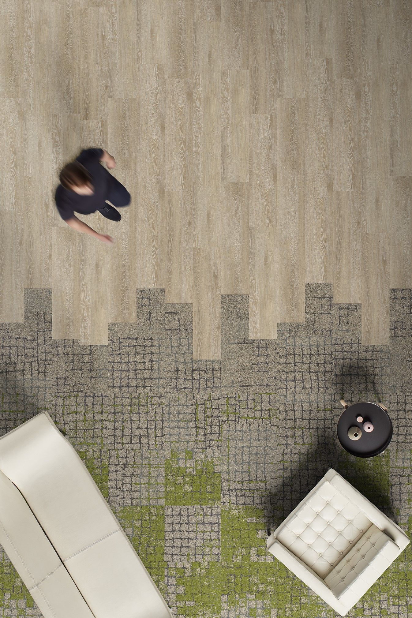 Biophilic Carpet Zoning - FLOR® by Interface