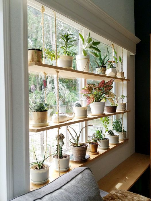 Hanging Plant Shelves by Kari - Image Credit, The Artful Roost