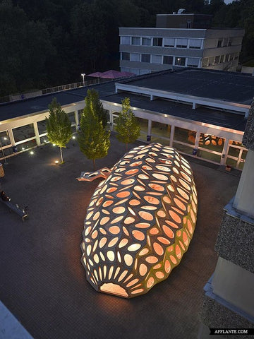 Pop-up Pavilion by BOWOOSS Research Project, Saarbrücken, Germany