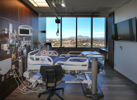 Otay Mountain can be seen from many of the patient rooms in the new Ocean View Tower at the Sharp Chula Vista Medical Center.(Howard Lipin / The San Diego Union-Tribune)