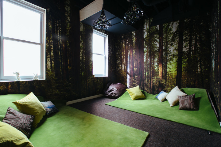 A meditation room at WeWork's Chinatown location in D.C. Image via WeWork.com