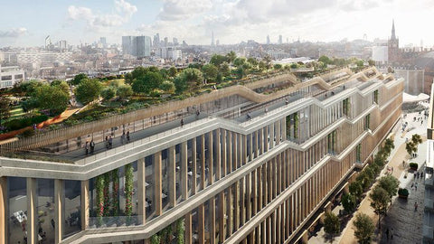 lans for Google's new London headquarters include a ridiculously lush rooftop garden, drawing