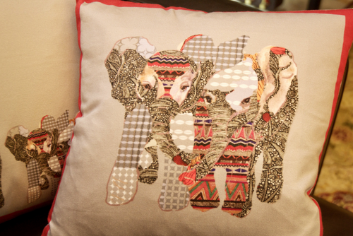 Red Elephant Cushion