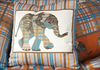 Orange and Blue Elephant Cushion