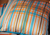Blue and Orange Check Cushion
