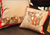 Red and Neutral Elephant Family Cushion