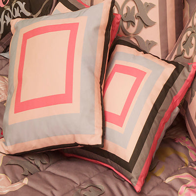Pink and Brown Fusion Cushions