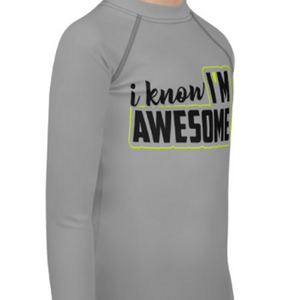 """Awesome"" Youth Compression Shirt - Busy Body Kids"