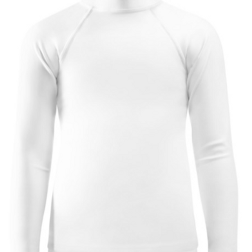 White Child Compression Shirt - Busy Body Kids