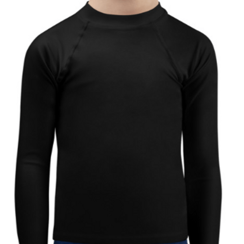 Black Child Compression Shirt - Busy Body Kids