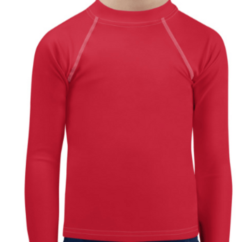 Red Child Compression Shirt - Busy Body Kids