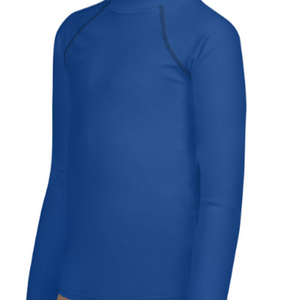 Blue Youth Compression Shirt - Busy Body Kids
