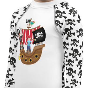 """Pirates"" Child Compression Shirt - Busy Body Kids"