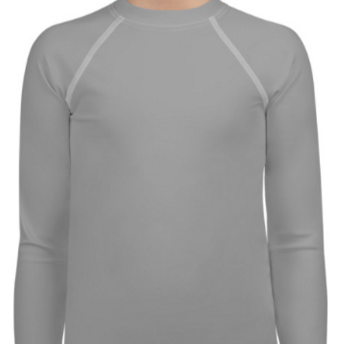 Gray Youth Compression Shirt - Busy Body Kids