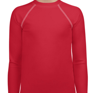 Red Youth Compression Shirt - Busy Body Kids