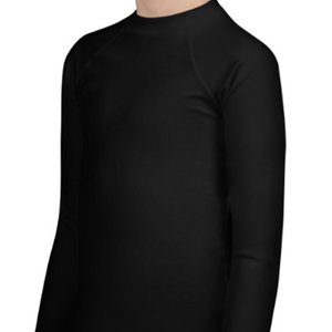 Black Youth Compression Shirt - Busy Body Kids