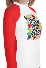 """Girl On Fire"" Youth Compression Shirt - Busy Body Kids"