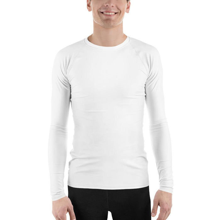 White Men's Compression Shirt - Busy Body Kids