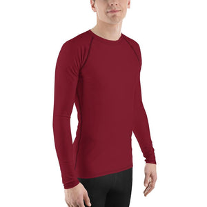 Brick Red Men's Compression Shirt - Busy Body Kids