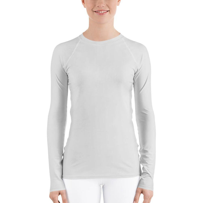 Light Gray Women's Compression Shirt - Busy Body Kids