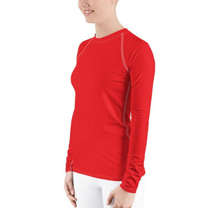 Red Women's Compression Shirt - Busy Body Kids
