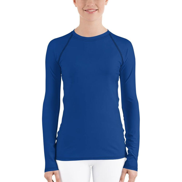 Blue Women's Compression Shirt - Busy Body Kids