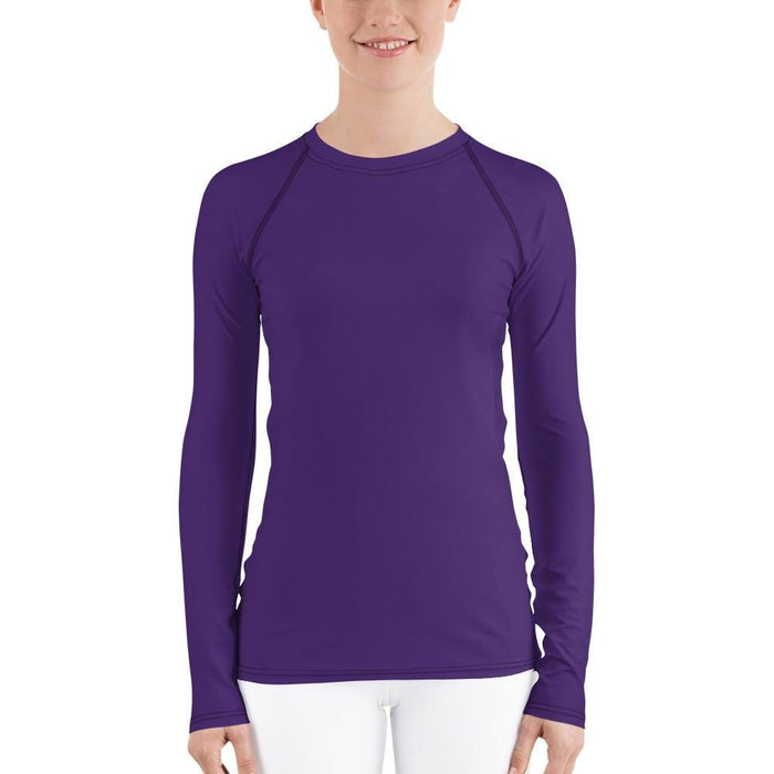 Purple Women's Compression Shirt - Busy Body Kids