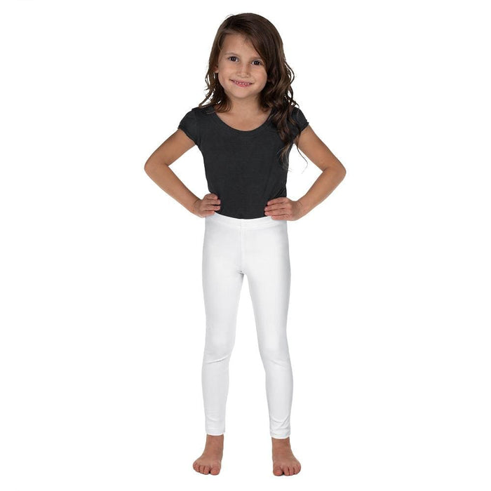 White Child Compression Bottoms - Busy Body Kids