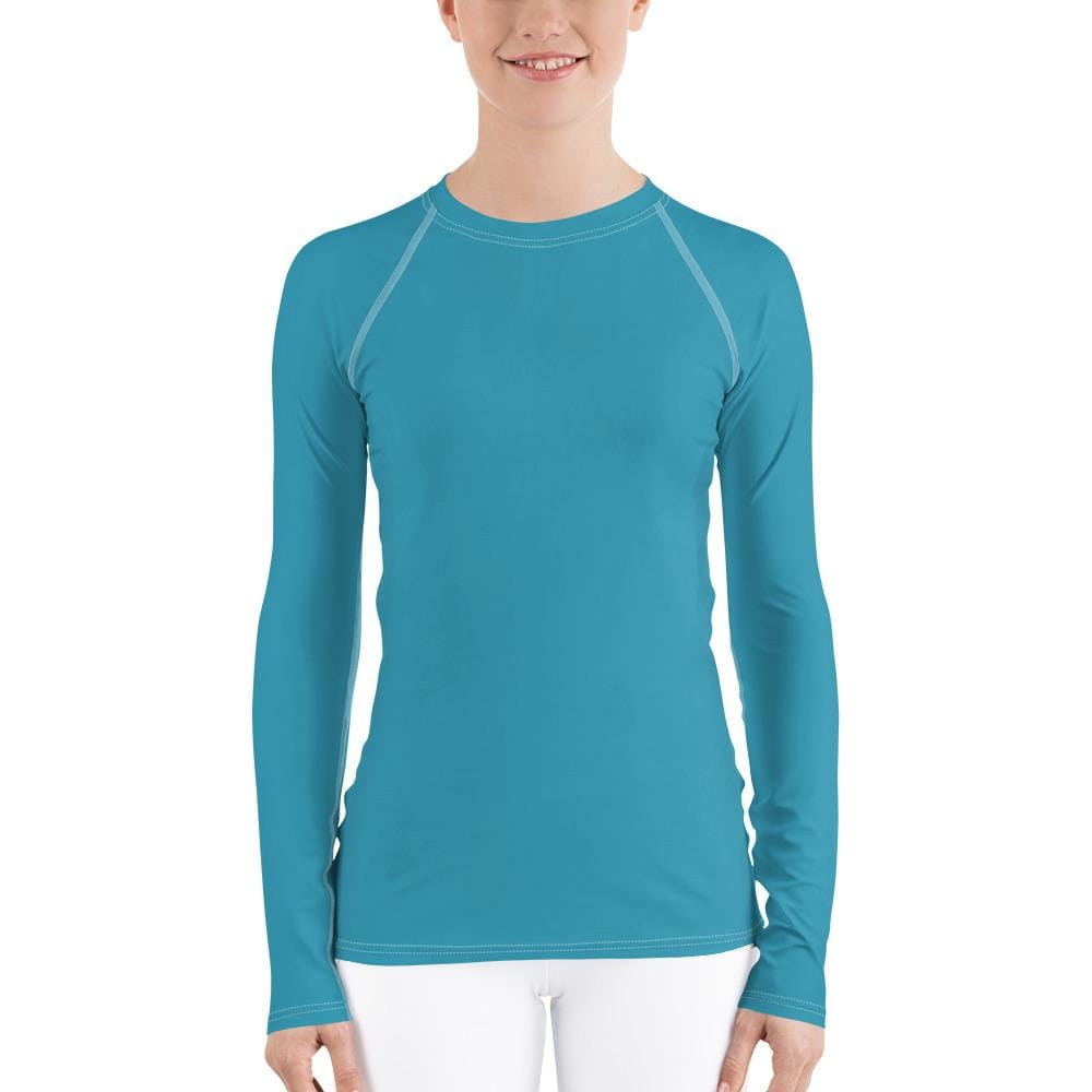 Turquoise Women's Compression Shirt - Busy Body Kids