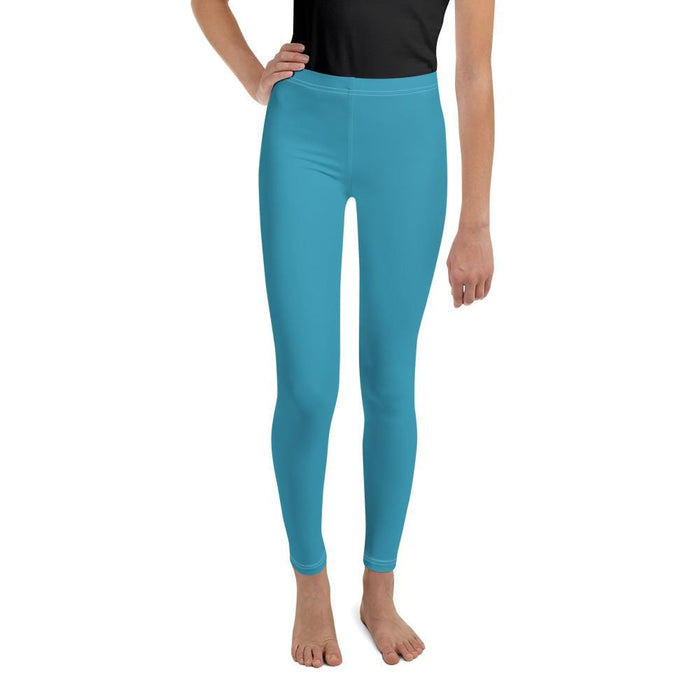 Turquoise Youth Compression Bottoms - Busy Body Kids