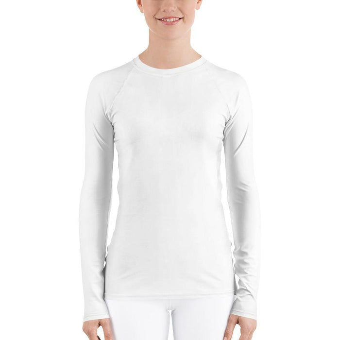 White Women's Compression Shirt - Busy Body Kids