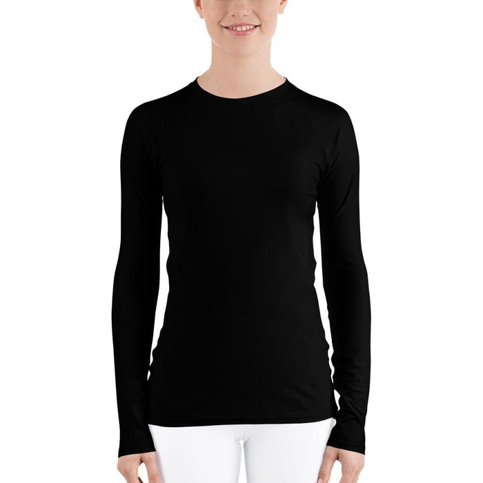 Black Women's Compression Shirt - Busy Body Kids