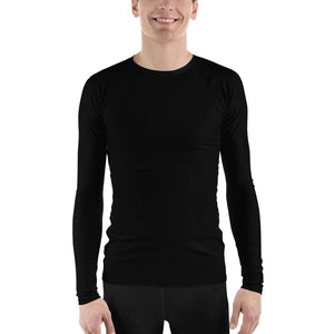 Black Men's Compression Shirt - Busy Body Kids
