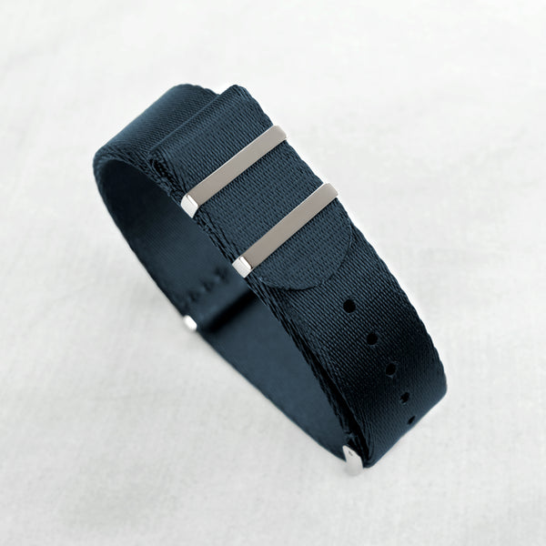 Deep Sea Blue NATO Strap (20mm | Polished hardware)