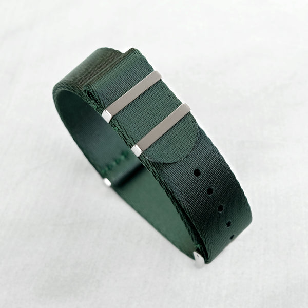 Dark Forest Green NATO Strap (20mm | Polished)