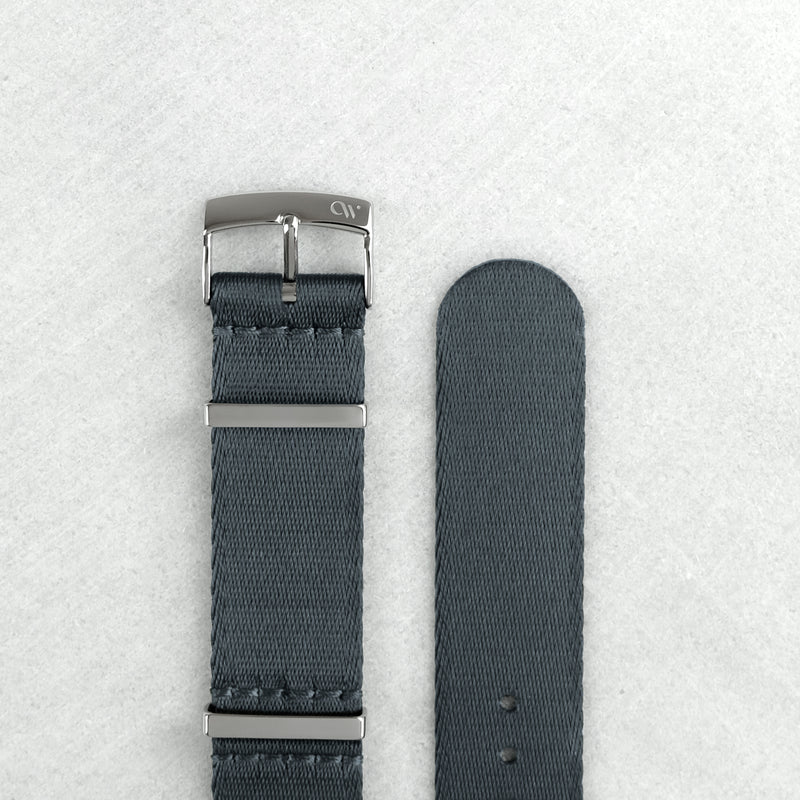 Lunar Gray NATO Strap (20mm | Polished Hardware)