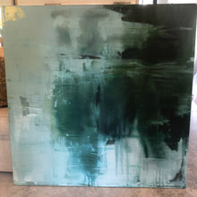 Load image into Gallery viewer, Teal Acrylic Painting