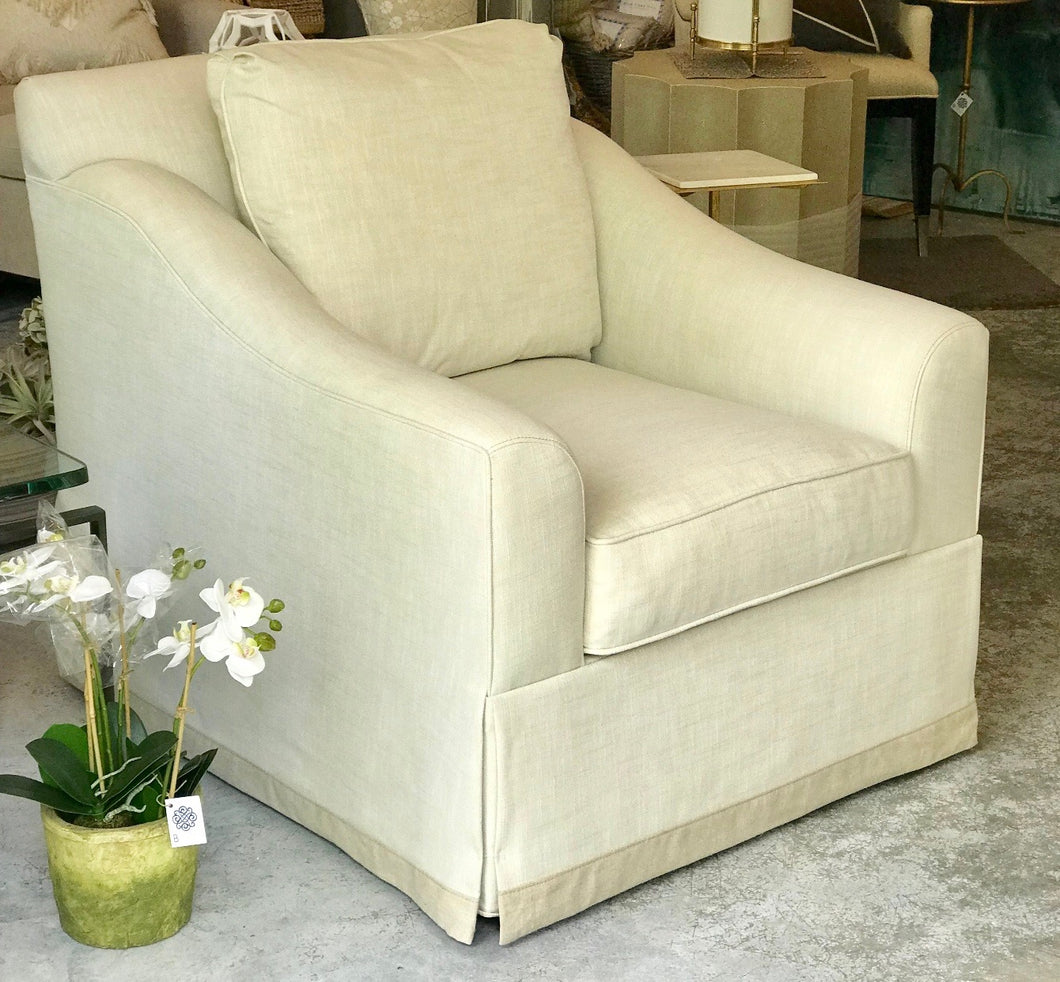 Light Taupe Swivel Chair