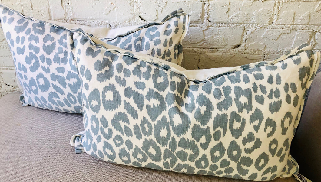 Double French Flange Lumbar Pillows (set of 2)