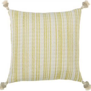 Striped Tasseled Boucle Pillow