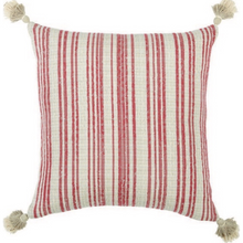 Load image into Gallery viewer, Striped Tasseled Boucle Pillow