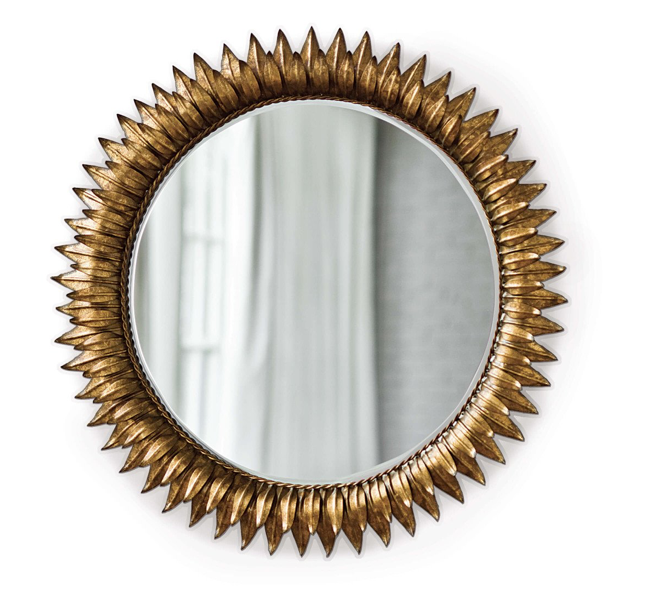 Sunflower Brass Mirror