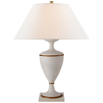 Vintage White and Gilded Table Lamp