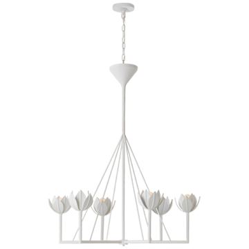 Large Single Tier Plaster Chandelier