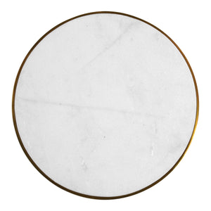 Marble & Brushed Gold Accent Table