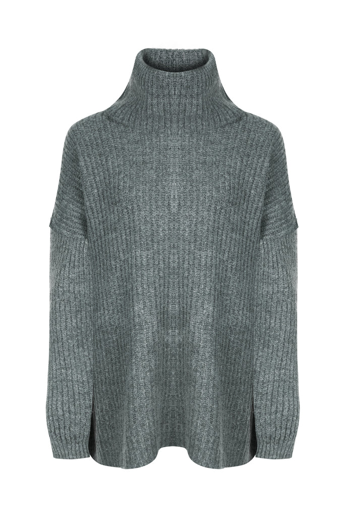 Amy Oversized Sweater in Grey