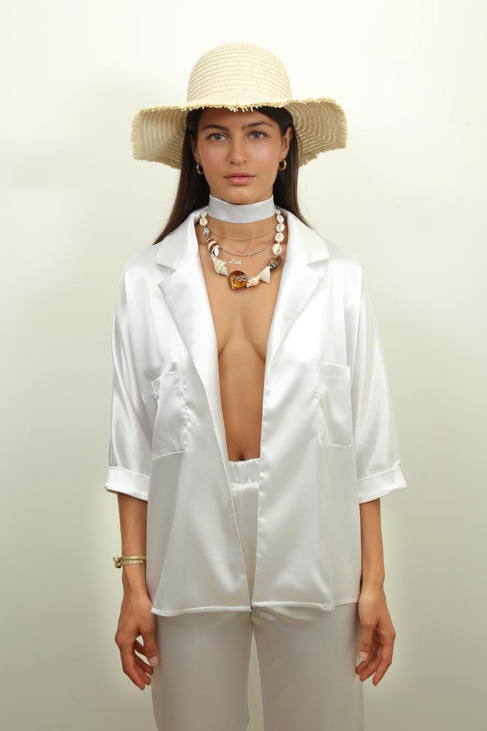 Juan Les Pins Blouse in White