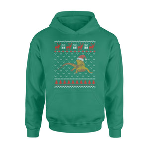 GearUnique Bearded Dragon Ugly Christmas Shirt- Funny Christmas Gift - Standard Hoodie