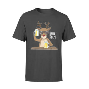 GearUnique Funny Christmas Drinking Beer Gift Brew Dolf Rudolf Standard T-shirt