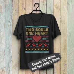 Custom Funny Christmas -Two Souls, One Heart